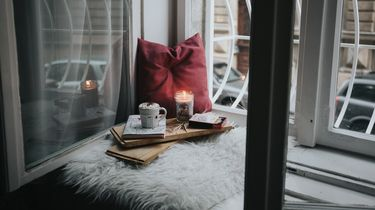 hot chocolate and candle