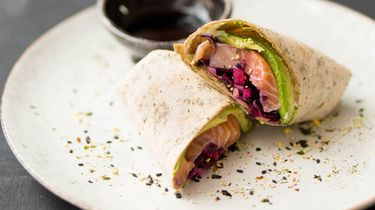 lunchrecept, sushiwrap, snel recept, lunch
